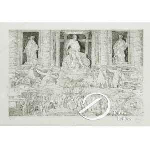 Waud. - Cenário Grego. Gravura, 31 x 39 cm. Embaixo a esquerda tiragem: 8/30 e à direita: Waud.