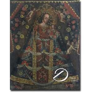Nossa Senhora da Saúde. Óleo sobre tela, 74 x 58 cm. América Espanhola, séc. XVIII.