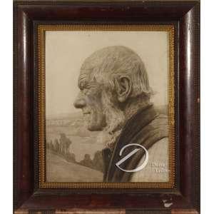 Jahn, G. - Agricultor. Desenho a lápis, 33 x 27,5 cm. Assinado embaixo à direita: G. Jahn.