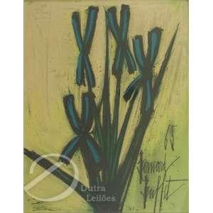 Buffet, Bernard - Vegetação. Reprodução gráfica, 32 x 25 cm. Assinado e datado embaixo à direita: - Bernard Buffet / 65.