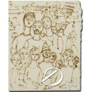 Fulvio Pennacchi - Figuras. Papel pirografado, 8,5 x 4,5 cm. Assinado e datado em cima à direita: Penacchi 71.
