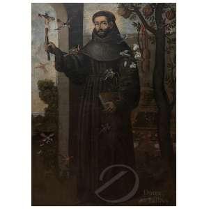 Autoria Desconhecida. São Francisco de Assis - Óleo sobre tela, 123 x 182 cm. América Espanhola, séc. XVIII.