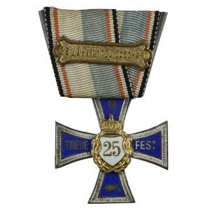 Kriegerverein, KriegerbundFür 25 JahreTreueimVerein. - Medalha de Honra de 25 anos de Guerreiro Veterano Combatente da Guerra Franco Prussiana.