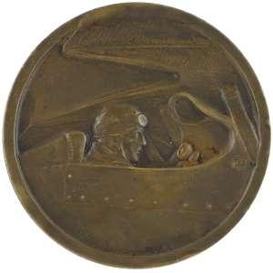 1928.00.00 - METTING DE VINCENNES 1928 Sᵀᴱ DES CARBURATEURS CLAUDEL. - Bronze - 50 mm - 59,1 g - cunho: F. Fraisse