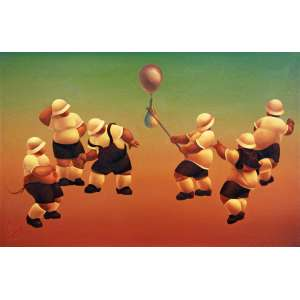 Daniel Carranza<br />Las Siete Clases de Hombres - Óleo sobre placa, 30x45 cm, 1984, A.C.I.E.