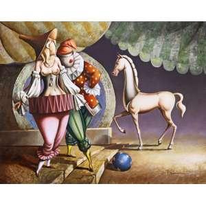 Vito Campanella<br />El Circo Metafisico - Óleo sobre tela, 40x50 cm , A.C.I.D.