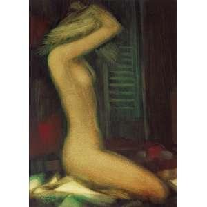 Enrico Bianco<br />Nu feminino. Óleo sobre placa, 40x30 cm, 1978, A.C.I.E.