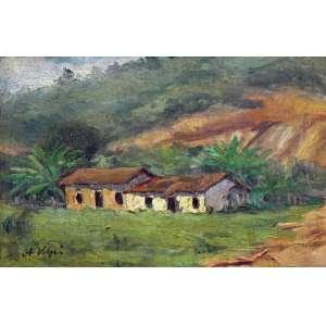 Volpi, Alfredo<br />Paisagem de Mogi - Óleo sobre madeira, 21x32 cm, A.C.I.E.