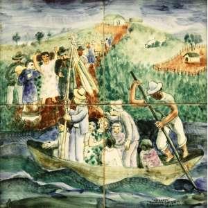 Volpi, Alfredo<br />Osirarte - Sem titulo. Cerâmica, 30x30 cm, A.C.I.D.