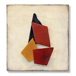 Piza, Arthur Luiz<br />Composição - 1/8. Cerâmica especial, 40x38 cm, 2011, A.V.
