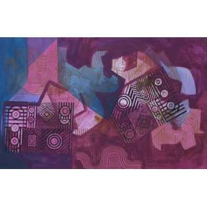 Burle Marx, Roberto<br />Sem título. Panneaux, 109x172 cm, 1987, A.C.I.D.