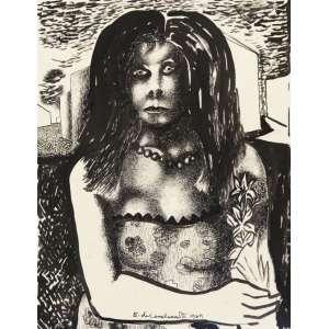 Di Cavalcanti, Emiliano<br />Mulata. Nanquim e aguada sobre papel, 42x32 cm, 1969, A.C.I.