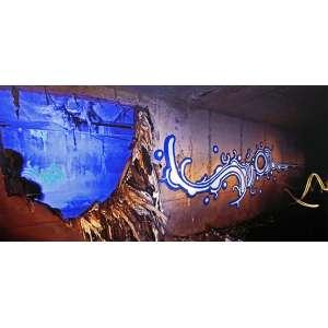 Zezão<br />Subterrâneos de São Paulo - SP1/3. Light Painting, 95x200 cm, 2012, A.V.