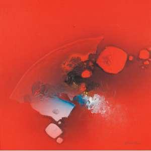 FUKUDA - Abstrato - óleo sobre tela - 50 x 50 cm - a.c.i.d. 1988