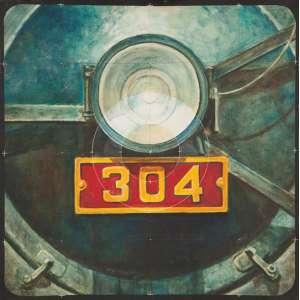 GLAUCO PINTO DE MORAES - Locomotiva 304 - óleo sobre tela - 50 x 50 cm - a.n.v. 1984