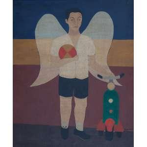 Djanira - Anjo com brinquedos - óleo sobre tela - 63 x 52 cm - a.c.i.d. 1951