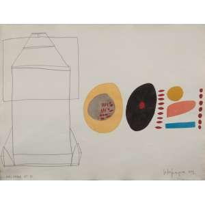 ESTER GRINSPUM - Inacabada 17 - técnica mista sobre cartão - 49 x 65 cm - a.c.i.d. 1984 - com etiqueta da galeria Suzanna Sassoun