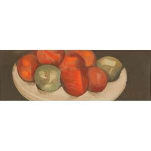 SCLIAR, Carlos - Tomates e limões - vinil encerado - 13 x 37 cm - a.c.i.d. 1977 - Cabo Frio - RJ