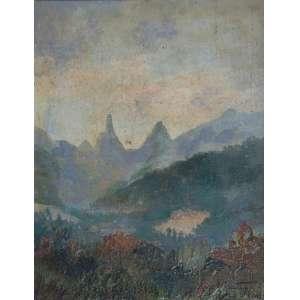 MANOEL SANTIAGO - Dedo de Deus - óleo sobre madeira - 36 x 27 cm - a.c.i.d. 1938 - Teresópolis - Rio de Janeiro