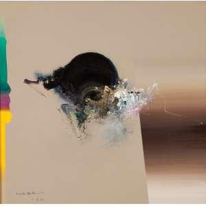 MABE, Manabu - Abstrato - óleo sobre tela - 51 x 51 cm - a.c.i.e. 1981 - obra registrada no instituto Mabe