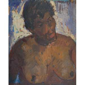 MOBY - Mulata - óleo sobre tela - 100 x 81 cm - a.c.s.d. 1965