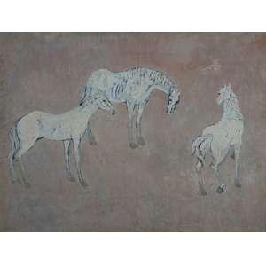 FANG - Cavalos - óleo sobre tela - 89 x 116 cm - a.c.i.e.