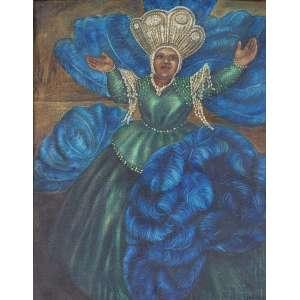 TORASSA - Baiana - óleo sobre tela - 63 x 49 cm - a.c.i.d. déc 80