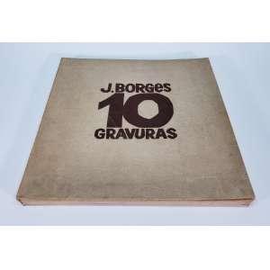 J. BORGES - Álbum com 10 gravura - gravuras - 27 x 37 cm cada gravura - assinatura da chapa