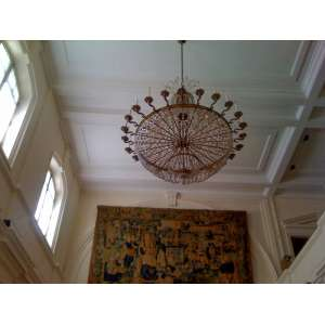 """Monumental lustre estilo Império - originalmente adornava a antiga """" Casa da Manchete """" - 30 lâmpadas - medidas, 200 x 160 cm - provavelmente, Estados Unidos, séc. XIX"""
