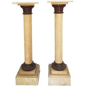 Par de colunas em ônix - altura, 110 cm - Itália, séc. XX