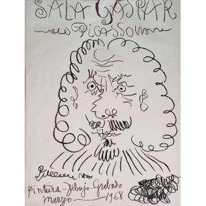 PICASSO, Pablo - Sala Gaspar - gravura 214/1000 - 73 x 55 cm - a.c.i.d. assinatura da chapa