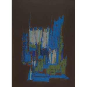 MARIA LEONTINA - Abstrato - técnica mista sobre papel - 68 x 49 cm - a.c.i.d. 1961