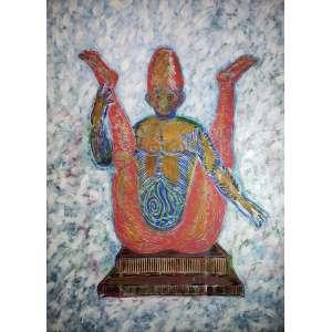 ALEX FLEMMING - O faraó - acrílica sobre tela - 190 x 140 cm - a.c.i.d. 1986