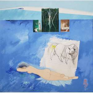 FLORIANO TEIXEIRA - Sem titulo - óleo sobre tela - 55 x 55 cm - a.c.i.d. 1979