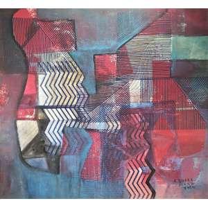 BURLE MARX, Roberto - Abstrato - Panno - 130 x 140 cm - a.c.i.d. 1984 - procedência Marques galeria de arte