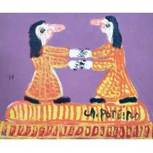 POTEIRO, Antonio - Figuras - óleo sobre tela - 25 x 30 cm - a.c.i.d. 2007 - obra pintada na comemoração de 81 anos do artista