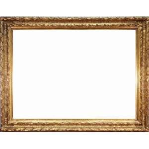 Espelho bisotado em moldura retangular de madeira entalhada - medidas, 134 x 103 cm - Brasil, séc. XX