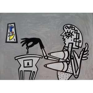 VICTOR ARRUDA - Sem titulo - técnica mista sobre pepel - 53 x 71 cm - a.n.c. 1985