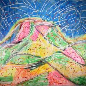 AGUILAR, José Roberto - Sem titulo - óleo sobre tela - 150 x 150 cm - a.c.i.d. 1986