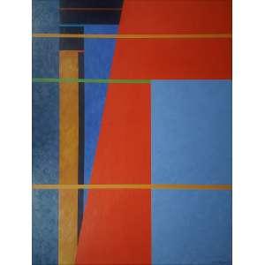 PAULO CALAZANS - Varal do Guarujá - acrílico sobre tela - 130 x 100 cm - a.c.i.d. 2009