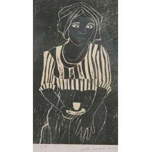JUDITH LAUAND - Figura - xilogravura 10/50 - 25 x 15 cm - a.c.i.d. 1972