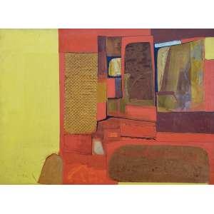 SILVIO OPPEMHEIN - O composição em amarelo - 45 x 70 cm - a.c.i.d. 1967