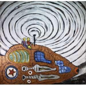 LUIZ HERMANO - Sem titulo - acrílica sobre tela - 138 x 142 cm - sem assinatura