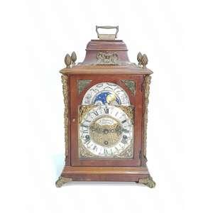 A. BAZUIN & ZN ROTTERDAM - antigo relógio de mesa fases da lua - altura, 38,5 cm - Alemanha Oriental, séc. XX