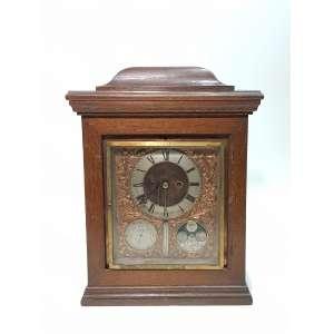 FRAZER & HAWS - importante relógio de mesa com barômetro, termômetro e fases da lua - precisa de revisão - altura, 55 cm - Inglaterra, séc. XVIII
