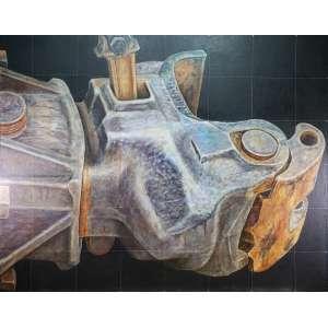 GLAUCO PINTO DE MORAES - Engate - óleo sobre tela - 120 x 150 cm - a.n.v. 1982