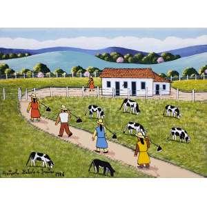 AGOSTINHO BATISTA DE FREITAS - Fazenda - óleo sobre tela - 30 x 40 cm - a.c.i.e. 1986