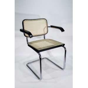 MARCEL BREUER - Cadeiras - conjunto com 5 cadeiras de palhinha