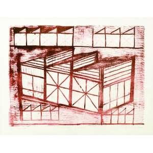 Fernando Lucchesi<br>Estrutura Metálica – 65 x 85 cm<br>Litografia – Ass. CID e Dat. 2004