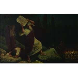 H. Sepcaru<br>Moisés e os Dez Mandamentos – 65 x 100 cm<br>OST – Ass. CID